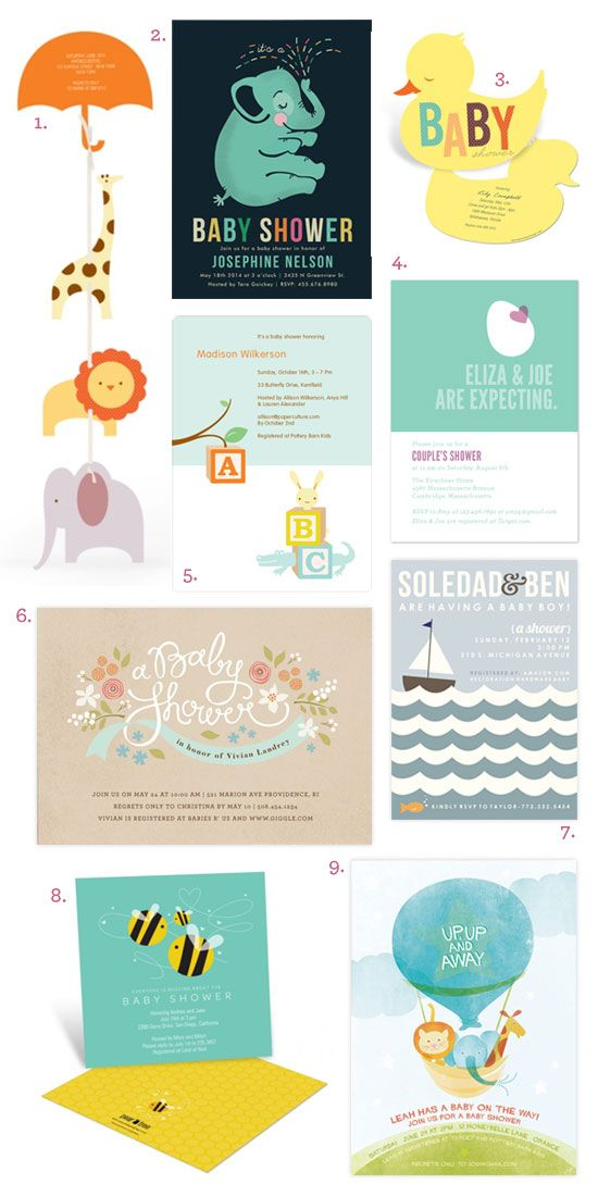 Baby Shower invite designs
