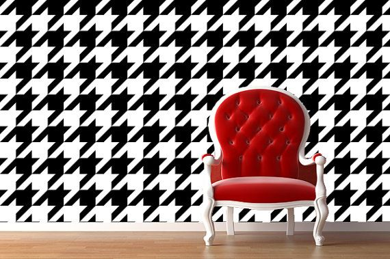 Removable Wallpaper Houndstooth Peel Stick Self