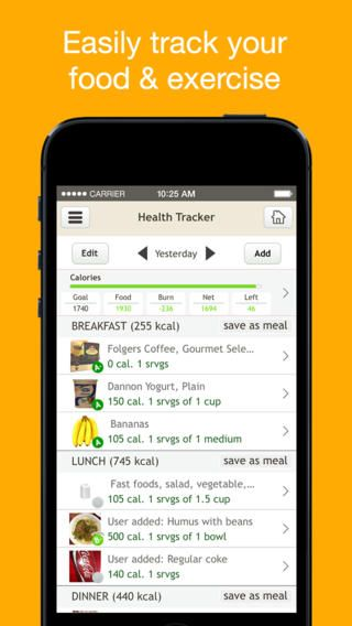 diet tracker app for iphone