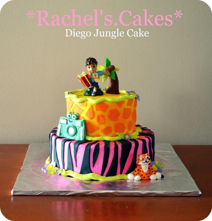 Dora Cake Decorating Kit : Dora And Diego Safari Party Cake Decorating Kit Car ...