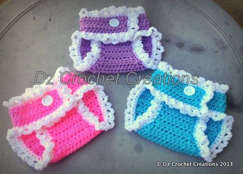 Crochet Diaper Cover with Ruffles by HandMadeByDz on Etsy, $22.00