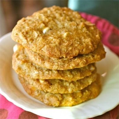 Coconut Oatmeal White Chocolate Cookies | cookies | Pinterest