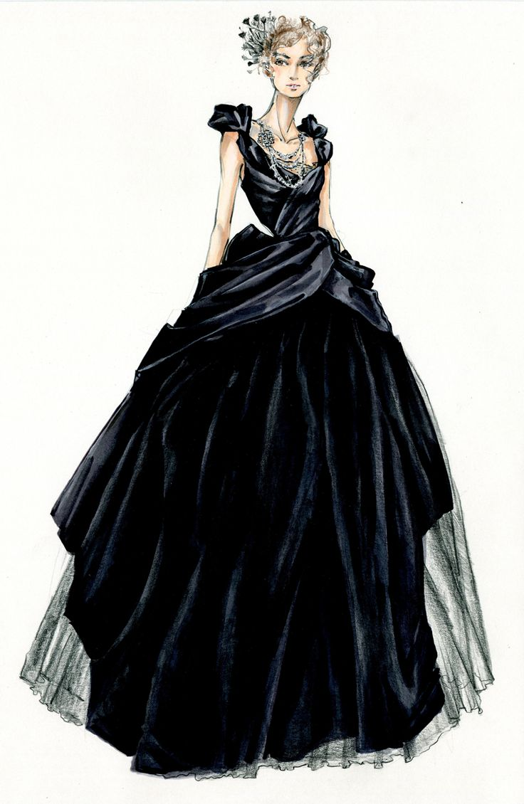 Ball gown fashion sketches 8