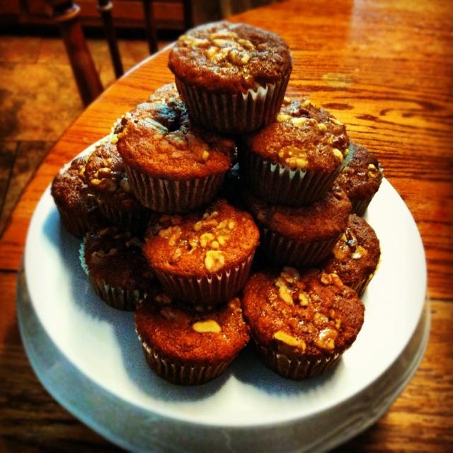 Honey Roasted Banana Nut Muffins | Tight Pants | Pinterest