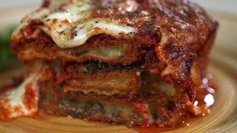 Ultimate Eggplant Parmesan- made this except I baked the eggplant ...
