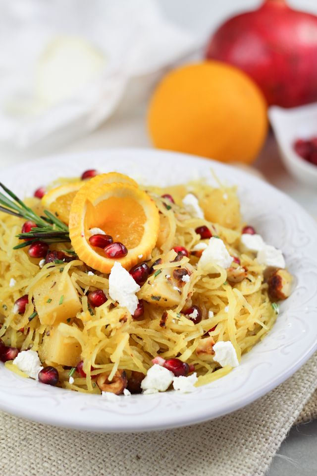 spaghetti squash pomegranate amp goat cheese salad by sonia the ...