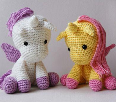 Amigurumi Crochet Unicorn Pattern : Amigurumi Unicorn Crochet Patterns Pinterest