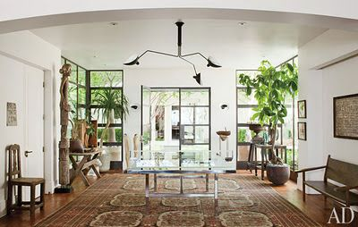Do you see it?  A glass ping pong table!  Shut up!  (Ellen & Portia's house)