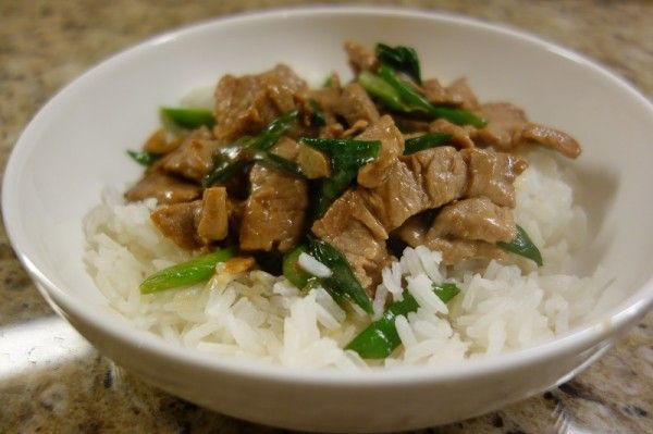 pork stir fry with green onions bowl | Main entrees | Pinterest
