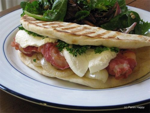 Pancetta-Wrapped Shrimp & Goat Cheese Panini another one for the ...