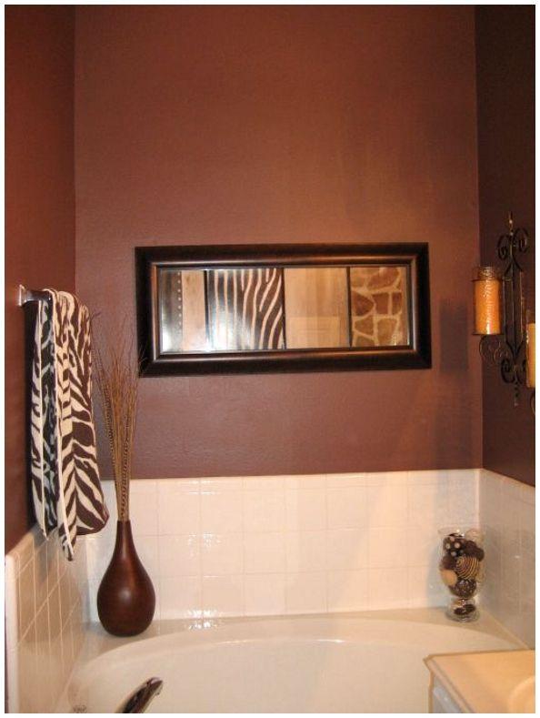 Safari Bathroom Decor  home sweet home.  Pinterest