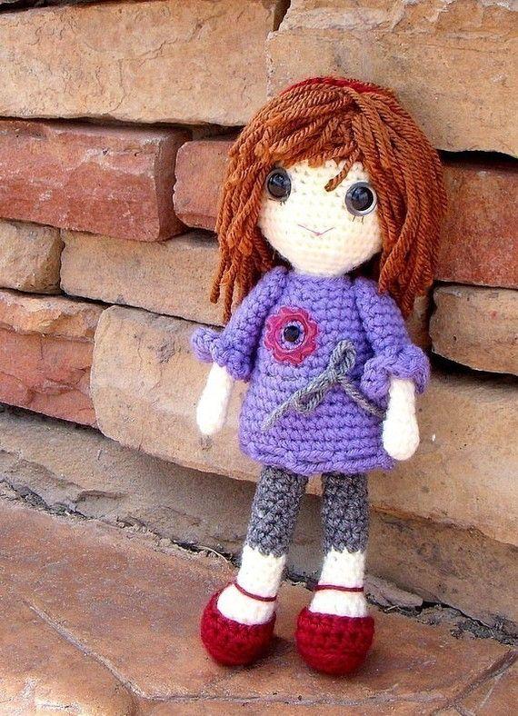 Amigurumi Girl Doll Pattern : Vikki - Crochet Amigurumi girl doll pattern / PDF