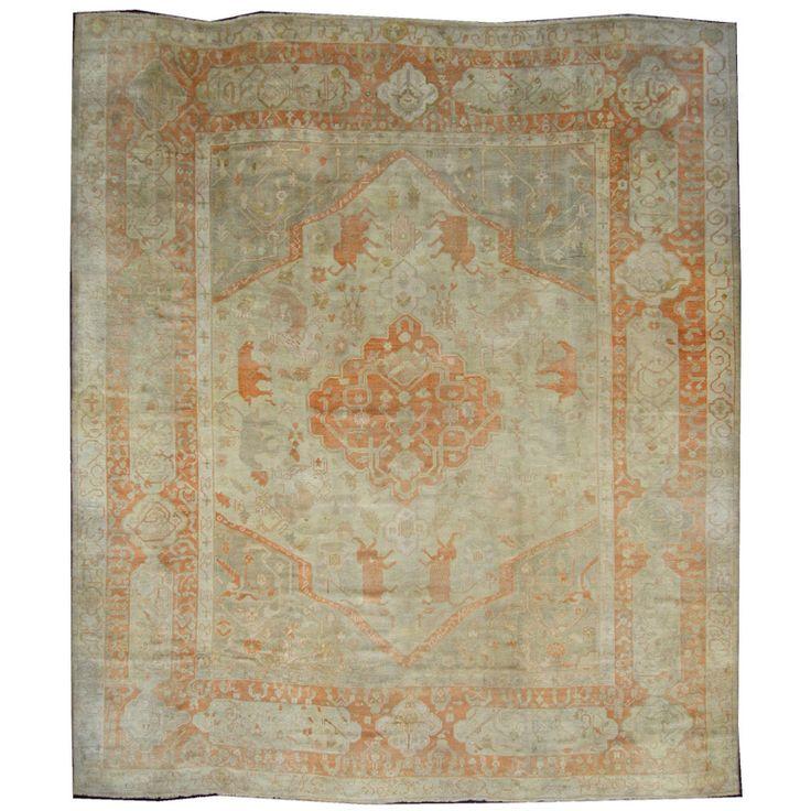 1stdibscom Antique Turkish Oushak Esmaili Rugs 1st