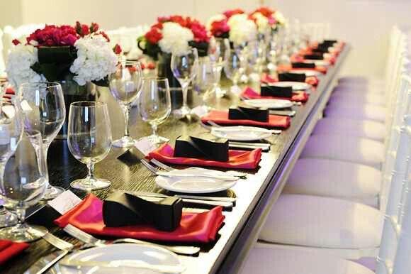 Table setting idea   Hubby's 50th BIRTHDAY bash...   Pinterest