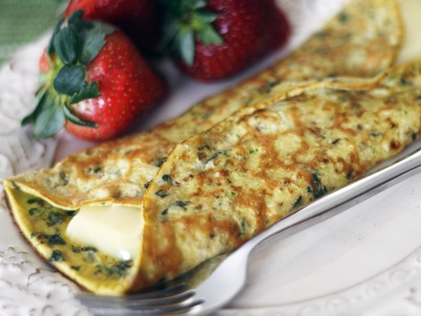 Herb and Brie Omelet | Recipe