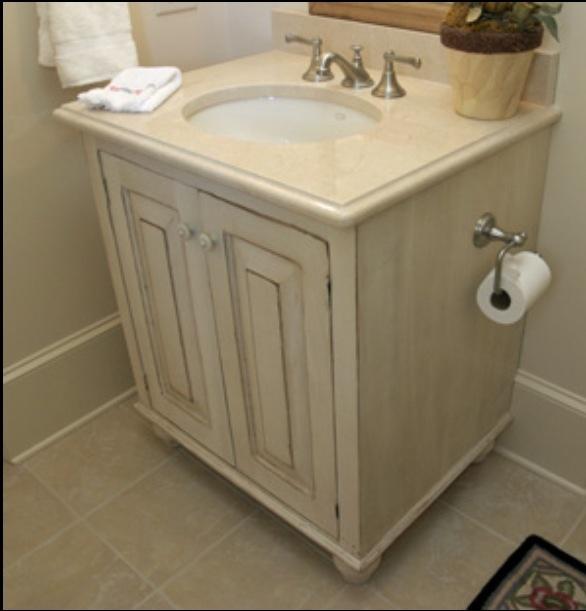 Antique White Cabinet Refinish Bathroom Ideas Pinterest