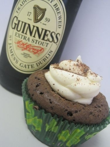 Guinness Brownies with Bailey's Buttercream Frosting