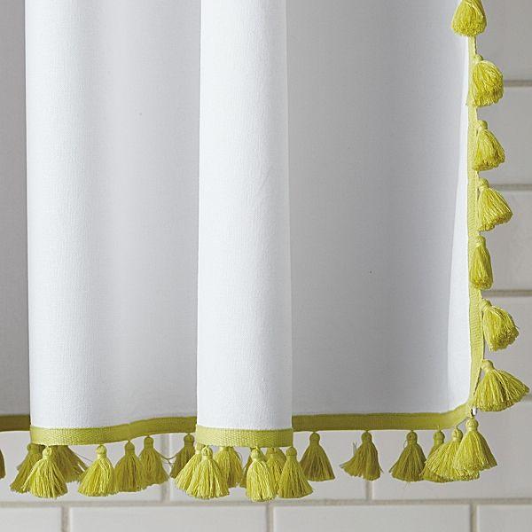 Citrine Tassel Shower Curtain | bath | Pinterest