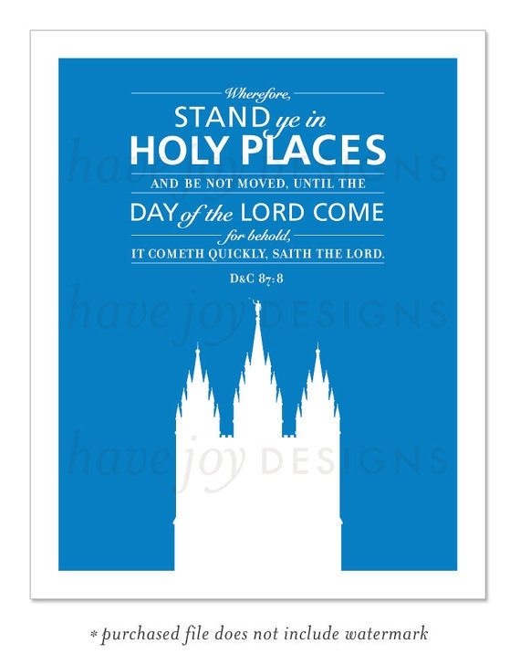 stand in holy places yw theme mormonshare | just b.CAUSE