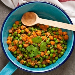 quick pickled sugarsnap peas green peas stir fry with chaat masala