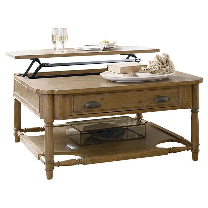 Down Home Lift Top Coffee Table In Oatmeal Paula Deen