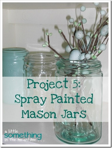spray painted mason jars crafty pinterest. Black Bedroom Furniture Sets. Home Design Ideas