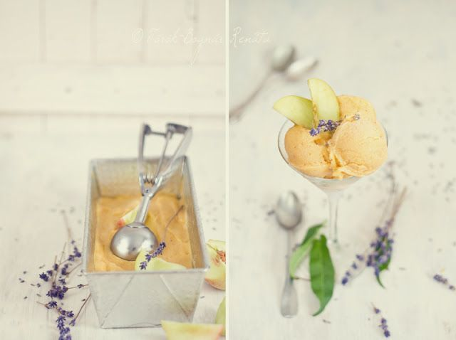 Lavender & Nectarine Sorbet Recipe | Yummy for my tummy | Pinterest
