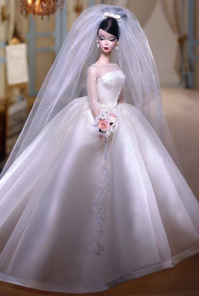 barbie ballgown wedding dress barbie doll pinterest