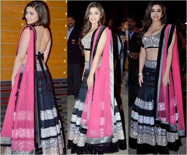 Alia Bhatt Dazzles In Manish Malhotra Lehenga at 58th Filmfare Awards 2013 | Roomee Times
