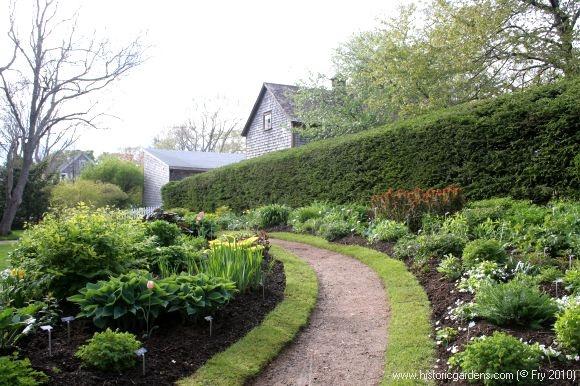 Interesting way to edge a garden path.