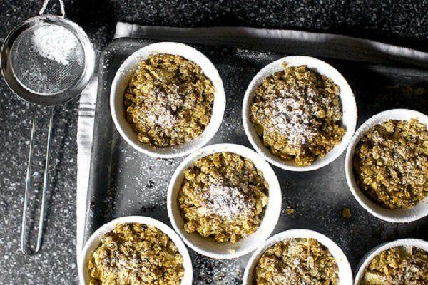 Multi-Grain Apple Crisps | Desserts | Pinterest