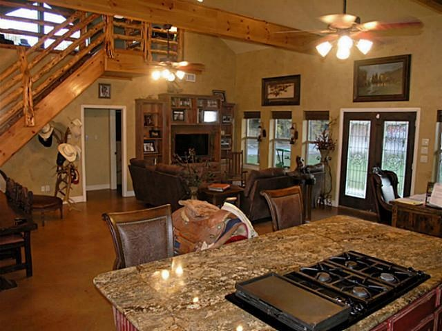Rustic open concept open floor plan pinterest for Rustic open floor plans