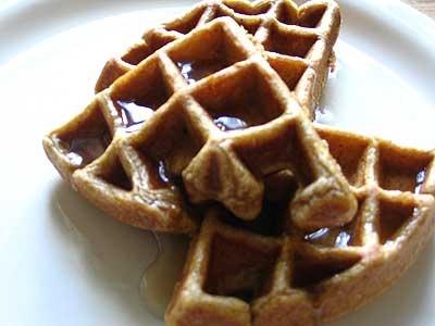 Spiced Pumpkin Waffles. Wish I had a waffle maker.