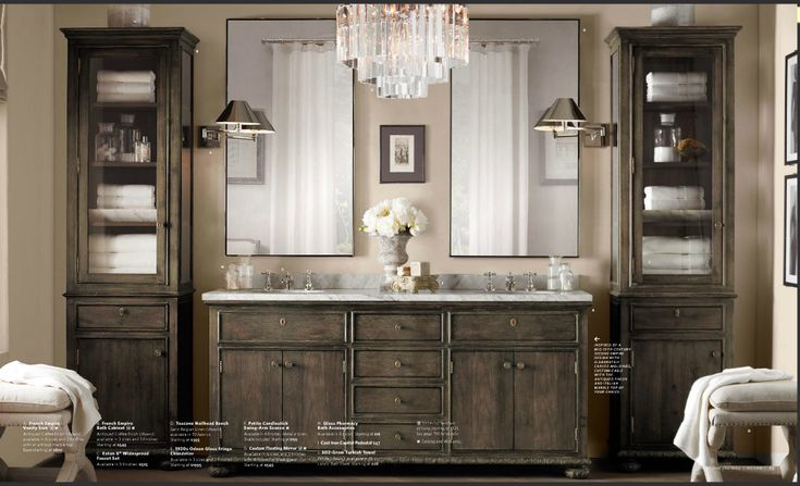 Restoration hardware 2013 love the stained wood cabinets