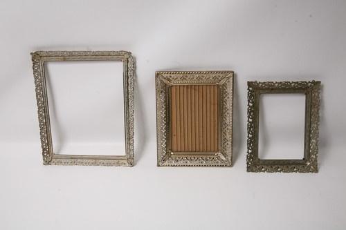 Vintage metal filigree picture frames
