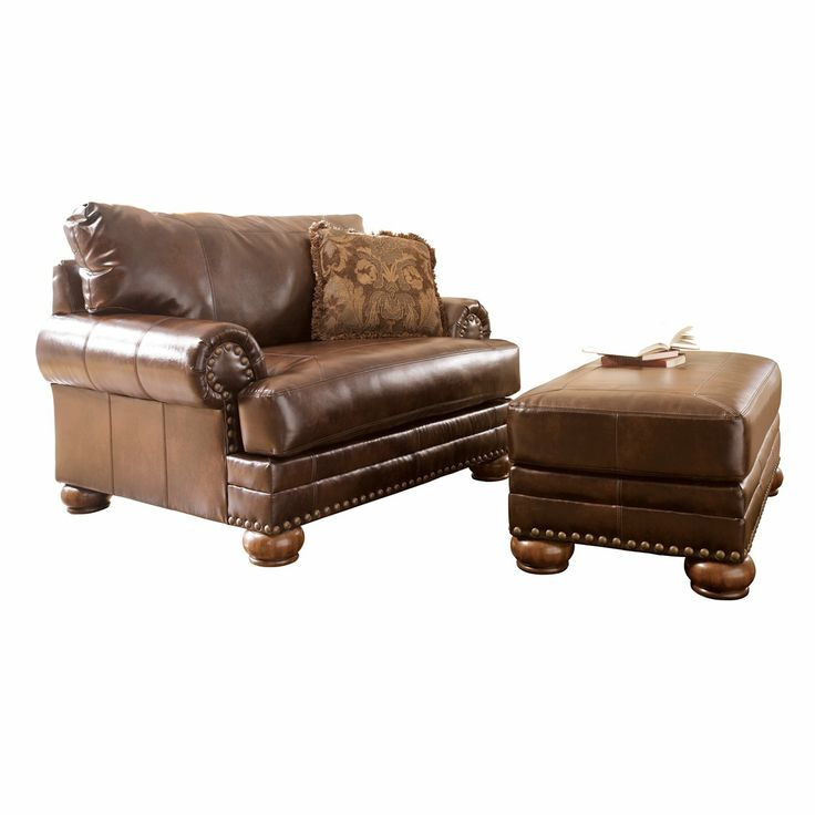 Signature Design by Ashley DuraBlend® Chair and a Half with Ottoman