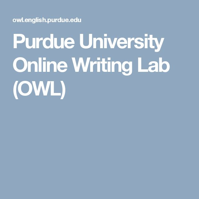 Write my owl and purdue