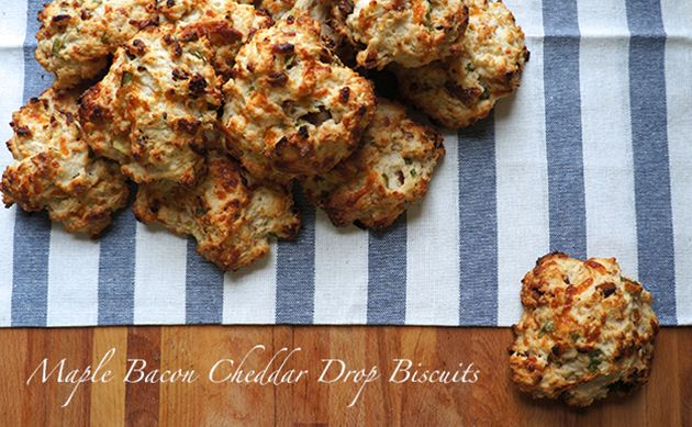 Maple Bacon Cheddar Drop Biscuits - enough said!!