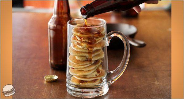 Beer & Bacon Mancakes | Breakfast in bed | Pinterest