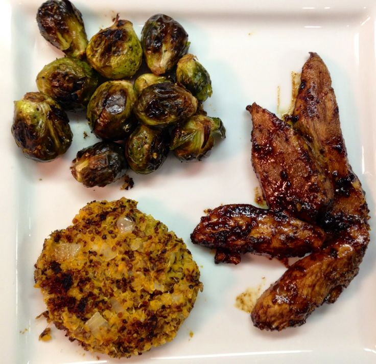 Balsamic Chicken, Roasted Tuscan Herb Brussels Sprouts & Sweet Potato ...