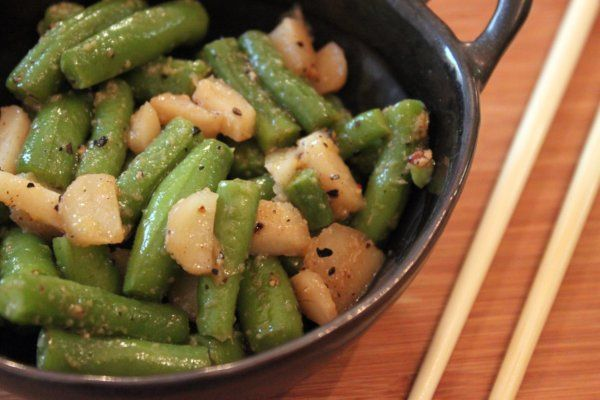 Soy Ginger Green Beans with Water Chestnuts | Side Dishes | Pinterest