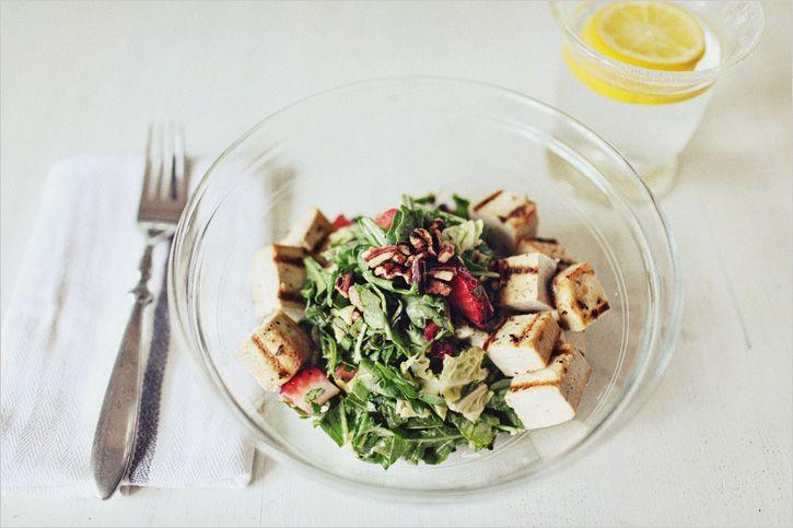 Strawberry Tofu Chopped Salad | Recipes: Salads | Pinterest