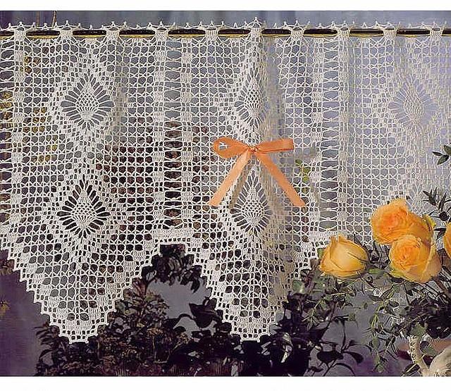 kitchen curtains to crochet crochet Pinterest