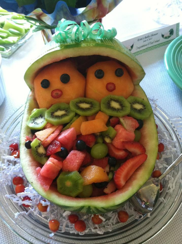 watermelon design for twin baby shower