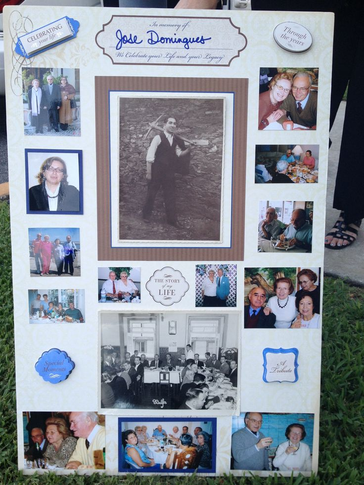 how to make a picture board for funeral