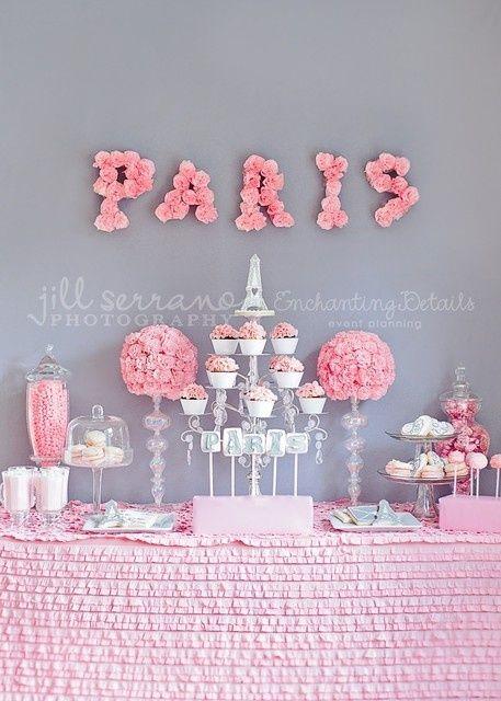 Pink Paris theme Kitchen tea  Party Ideas  Pinterest