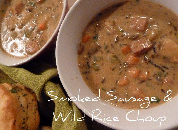 ... sausage amp wild rice choup it s like a chowder and a soup choup