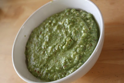 Garlic Scape and Basil Pesto - made it with regular garlic, delicious ...