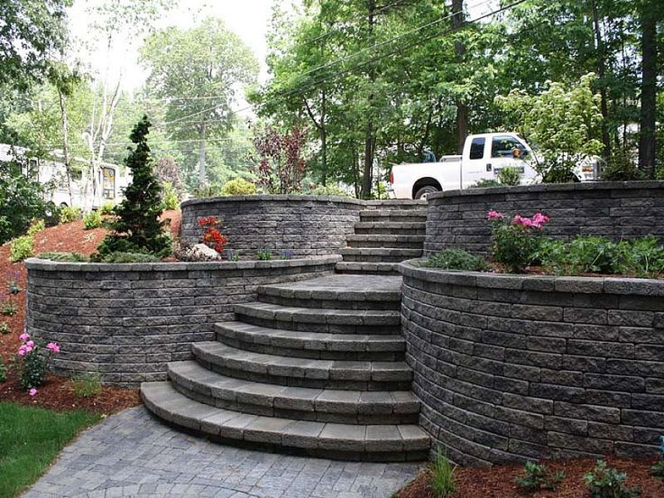 cheap retaining wall design ideas house pinterest