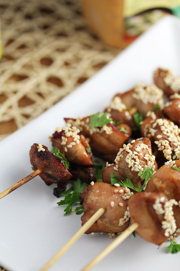 Miso & Sesame Grilled Chicken Kebabs....simple, fast, and (nearly ...